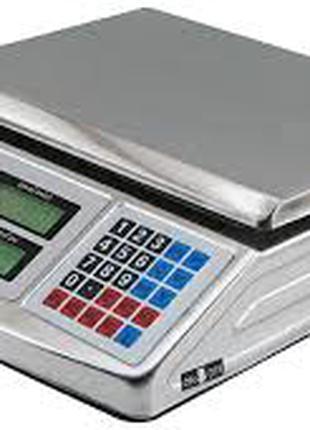 Весы торговые электронные с металлическим корпусом до 50 кг