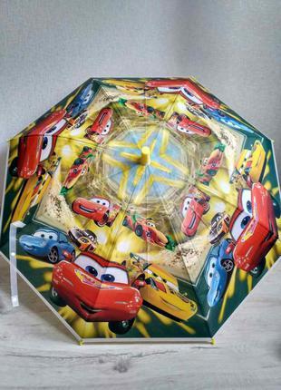 Яркий детский зонтик для мальчика тачки молния маквин
