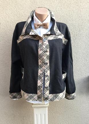 Куртка,серый джинс,окантовка клетка burberry,ветровка,жакет,пи...