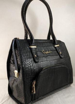 Черная женская сумка shengkasilu