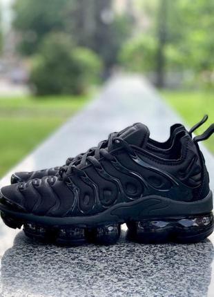 Nike air vapormax plus tn all black женские стильные кроссовки