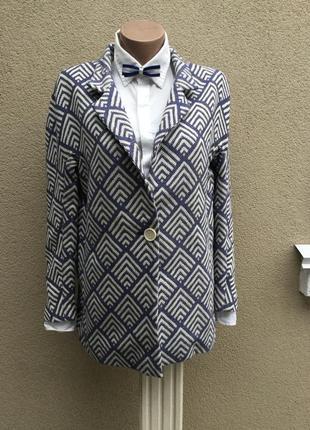 Легкое пальто бойфренд,реглан,удлиненный жакет,пиджак,хлопок