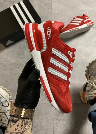 Красные мужские кроссовки adidas zx 750 red/whtie.