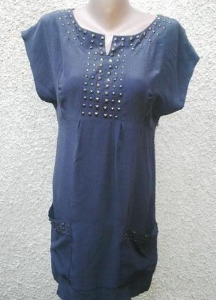 Шелковое платье marks & spencer,туника,удлиненная блуза