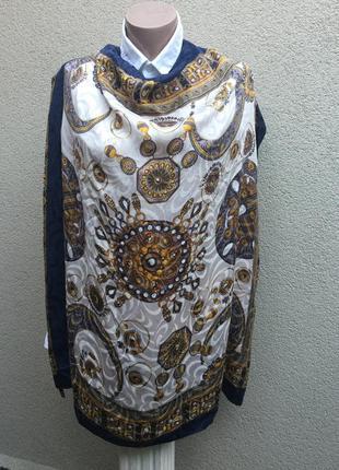 Большой,шелковый платок,косынка,шелк100%