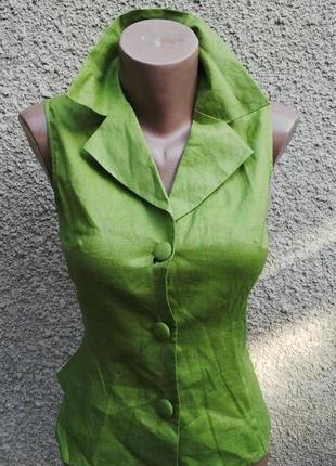 Новая льняная блузка(жилетка)