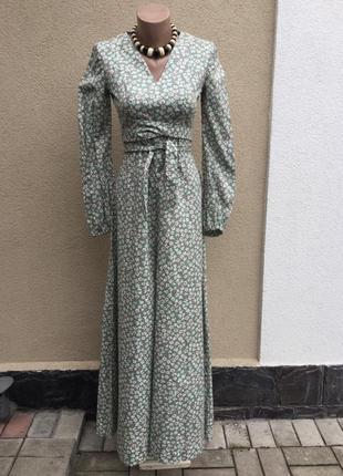 Длинное,романтическое платье в ретро,винтаж,этно,деревенский с...