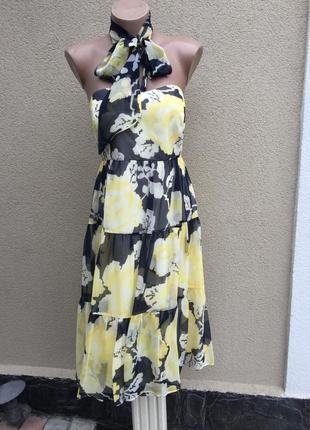 Легкое,шелковое платье,романтический сарафан с открытой спиной...