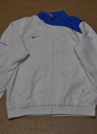 Nike фирменная куртка ветровка найк белая