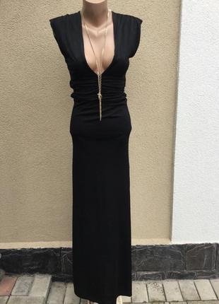 Красивое чёрное платье в пол,секси,вечернее,маленький размер,б...