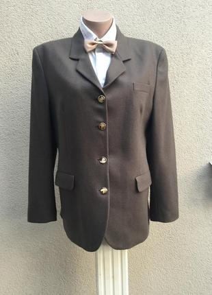 Винтаж,номерной жакет,пиджак,блейзер,коричневый,шерсть,burberr...