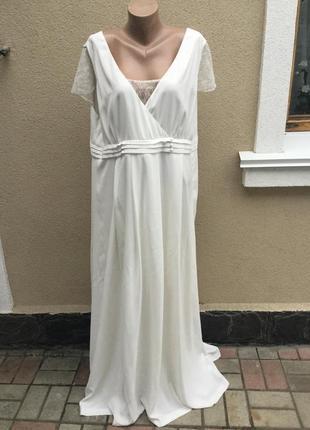 Белое,вечернее,выпускное платье,сарафан в пол,открытая спина,к...