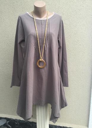 Новое,ассиметричное платье,туника,рубаха,блуза,застежка по спинке