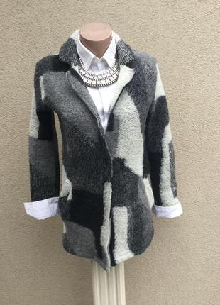 Шерстяной кардиган,пальто без подкладки,жакет,пиджак,маленький...