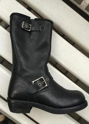 Крутые,кожа,сапоги,ботинки-байкерские,оригинал,harley davidson...