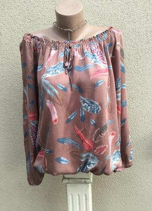 Блуза-реглан,рубаха штапельная,этно,бохо,деревенский стиль,отк...