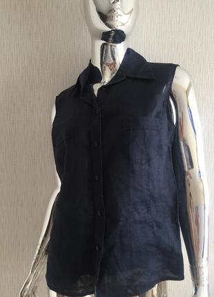 Блуза рубашка лён натуральный montego