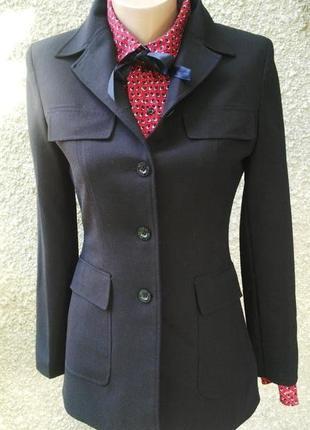 Шерстяной жакет(пиджак)mexx удлиненный с накладными карманами,...