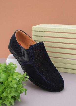 #20 мужские туфли с перфорацией
