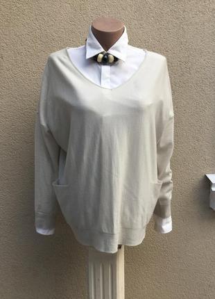 Кофта,джемпер,реглан,пуловер,свитер100%шерсть,большой размер,g...