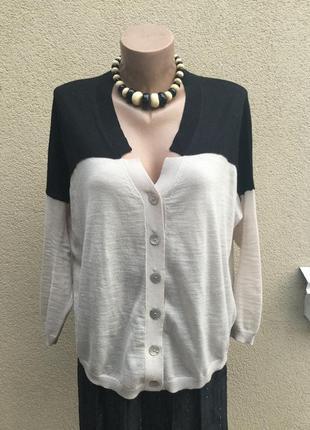 Тонкий кардиган100%шерст,кофта,свитер,джемпер-реглан,пуловер,l...