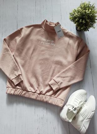 Ніжно розовий теплий світшот гольф sinsay