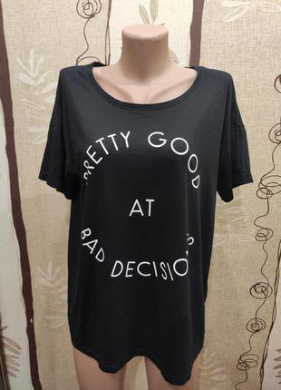Noisy may женская черная свободная футболка