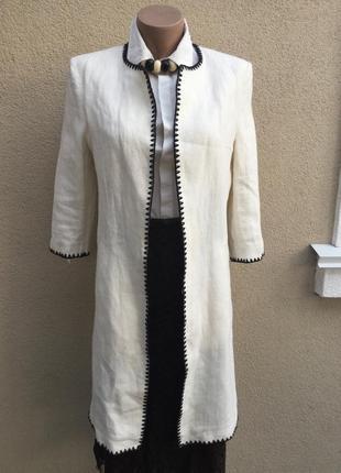 Льняное пальто,кардиган,тренч,удлиненный жакет,пиджак,этно сти...