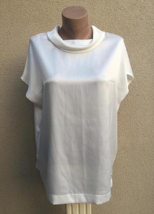 Белая,легкая ,атласная блуза реглан,большой размер