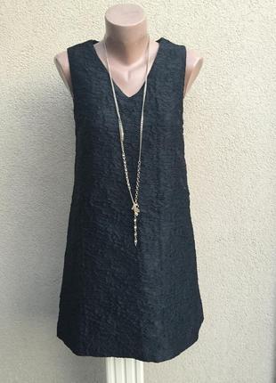 Чёрный сарафан,платье,туника,золотая застежка по спинке,плотна...