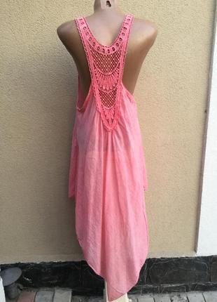 Асимметрия,легкая,розовая туника,сарафан,платье-майка пляжное,...