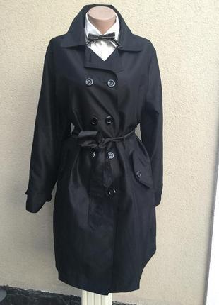 Чёрный плащ,тренч,легкое пальто большого размера
