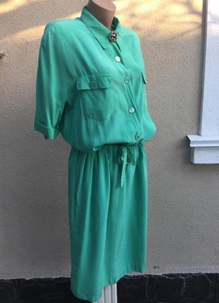 Винтаж,шелковое платье-реглан на подкладке,большой размер,шелк...