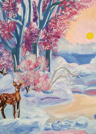 """Картина """"Зимовий пейзаж"""", 2018 рік"""