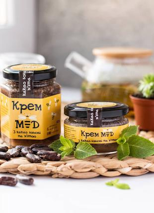 Крем-мед какао та м'ята 100мл/200мл