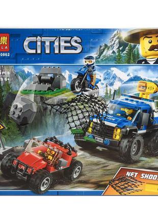 """Конструктор Bela Cities """"Погоня по грунтовой дороге"""" 315 деталей"""