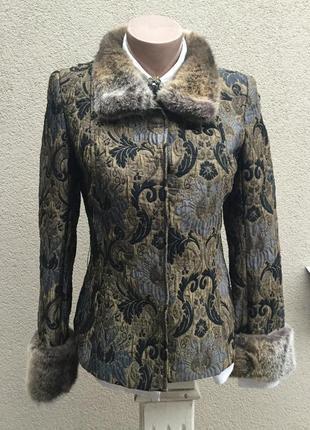 Красивый,жаккардовый,твидовый жакет,пиджак,блейзер,пальто с ме...