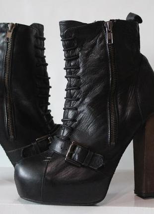 Ботильоны кожанные. ботинки, ботильены.