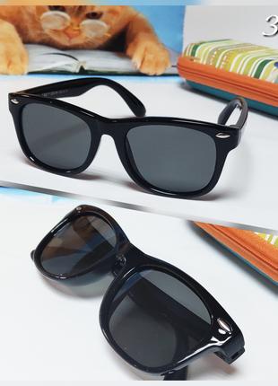 Детские очки черные  с поляризацией
