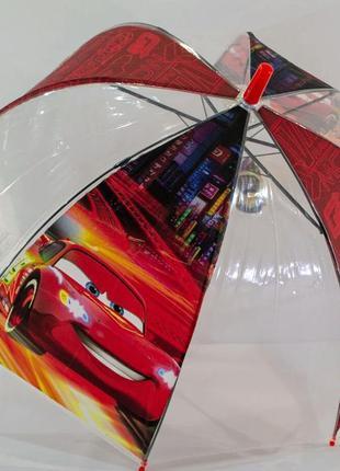 Прозрачный зонт тачки