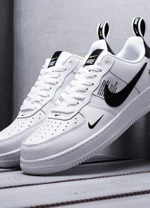 Nike air force 1 low utility white женские кроссовки наложенны...