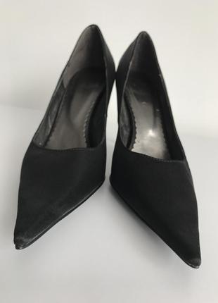 Черные туфли, чорні туфлі на шпильці, туфли лодочки,лодочки ob...
