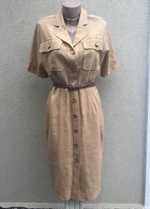 Винтаж,платье-халат,стиле кэжуал,лён+шерсть,эксклюзив,оригинал...