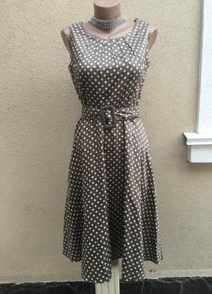Романтическое платье,сарафан в горохи,хлопок,ретро,винтаж стил...