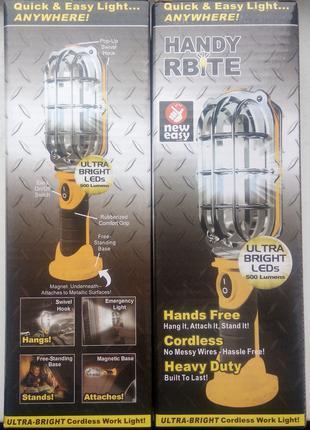 Светодиодный фонарик светильник на магните handy brite light