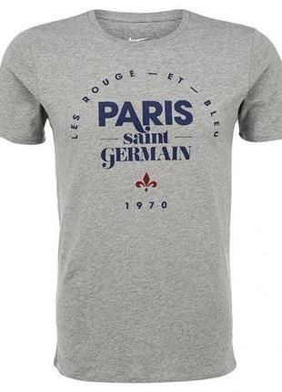Футболка nike мужская хлопковая с принтом paris saint-germain ...