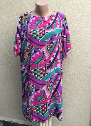 Шелк,летнее,пляжное платье реглан,туника,принт,этно,бохо стиль...