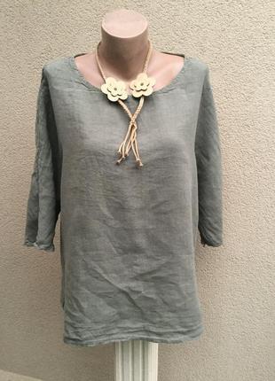 Льняная блуза,рубаха реглан,большой размер,этно,бохо стиль