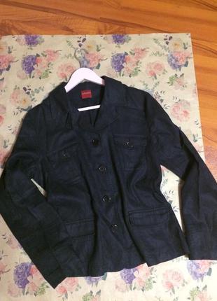 Стильный пиджак из льна