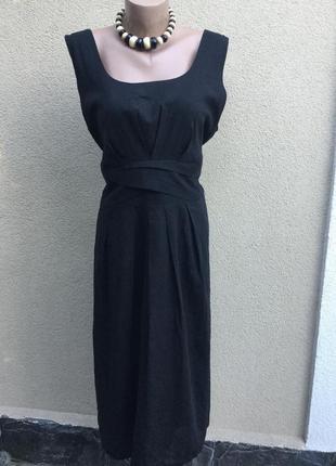 Лен платье с открытой спиной,сарафан в складки,большой размер,...